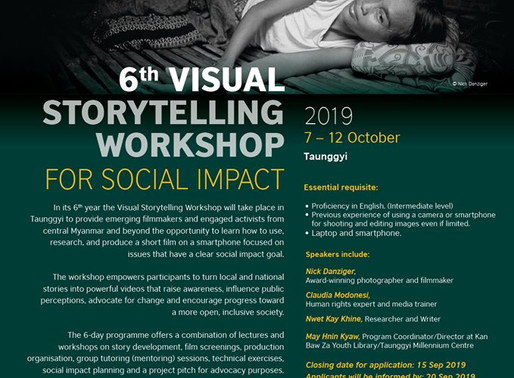 Call for Applications: 6th VISUAL STORYTELLING WORKSHOP FOR SOCIAL IMPACT