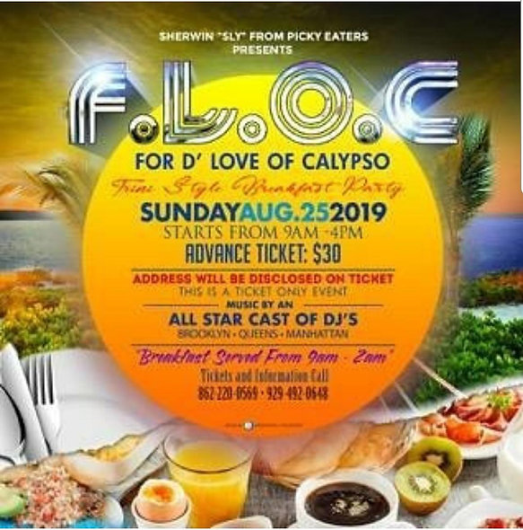 "F.L.O.C. For ""D"" Love Of Calypso- Trini Style Breakfast Fete"