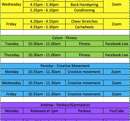 We are now offer free classes Every day on ZOOM