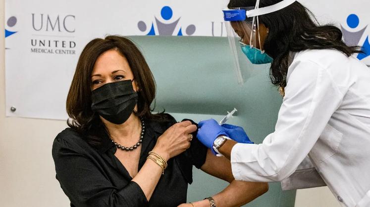 Nurse Patricia Administering Covid-19 to Vice President Elect Kamala Harris