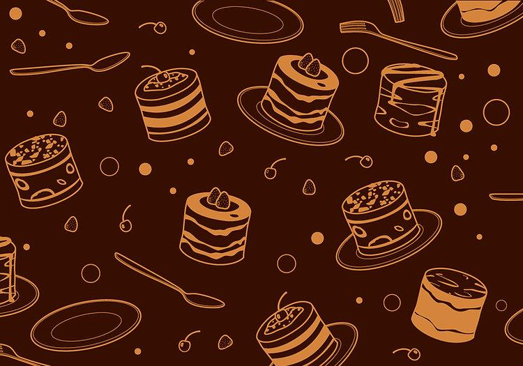 outline-tiramisu-cake-pattern-free-vecto