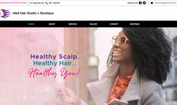 H & A Hair Braiding Studio & Boutique Website Re-brand for Hair Braiding Salon.