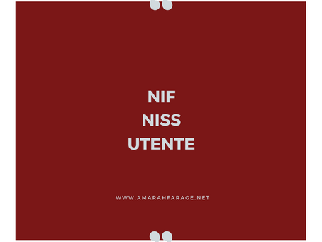 NIF - NISS - UTENTE