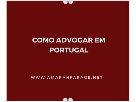 Como Advogar em Portugal