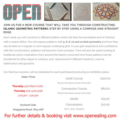 10 week course at OPEN Ealing