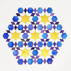 hexagons in a hexagononal formation..