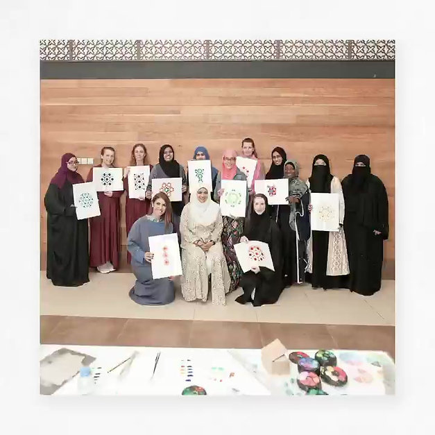 Dec 2019 – Sheikh Zayed Mosque Ewan Al Jami Workshop with Samira Mian