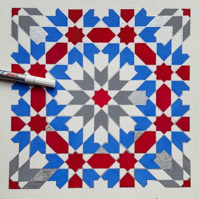 A classic #zellig #pattern in semi class