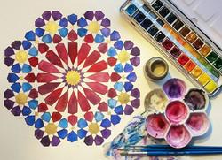 Finished!__#Islamicpattern #Islamicgeometry #Islamicart #art #pattern #geometry #art #paint  #painti