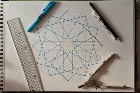The Process #1 : A 12 fold Rosette