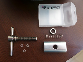 MiniMODs titanium clamping lever on RIDEA hinge plate, Step by step installation procedure