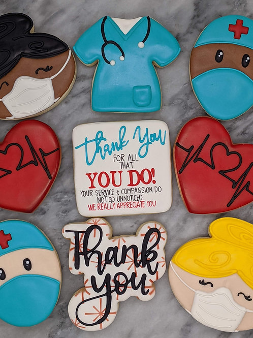 Box of 2 Nurse/Dr Appreciation Cookies