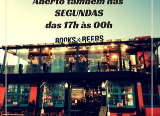 BOOKS&BEERS abertos também nas segundas-feiras