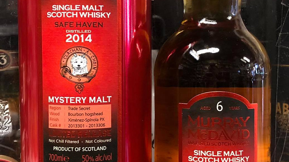Murray McDavid Mystery Malt 6 year Safe Haven 2014 - 0,7l