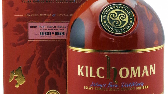 Kilchoman Single Cask Release Ruby Port Finish 0.7 Ltr