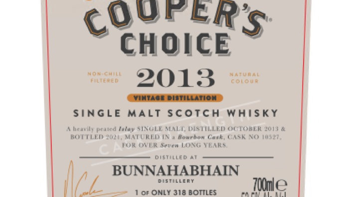 Bunnahabhain Coopers Choice 0.7 Ltr