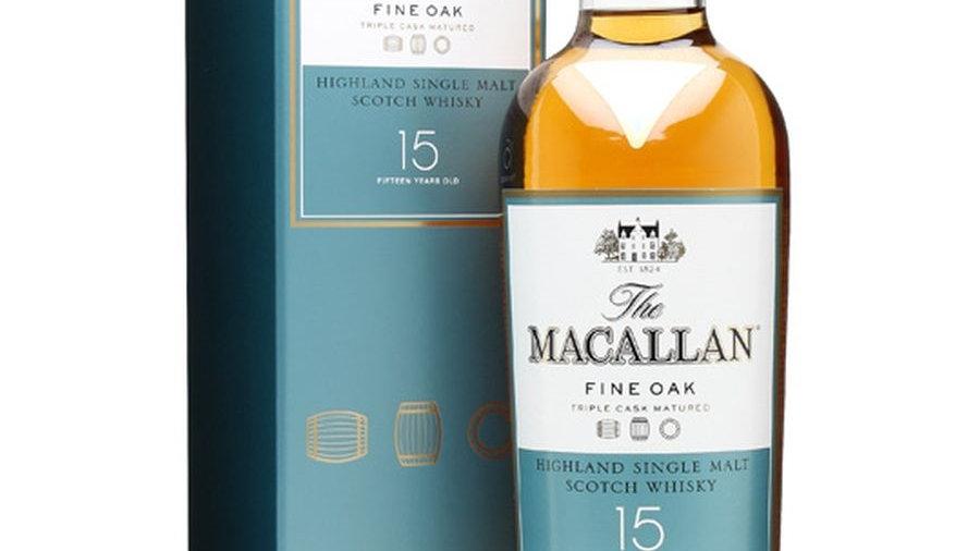 Macallan Fine oak 15 jaar 0.7 Ltr