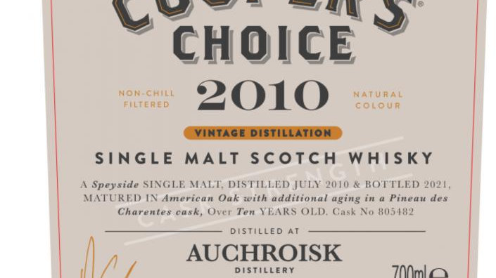 Auchroisk Coopers Choice 0.7Ltr