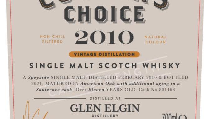 Glen Elgin Coopers Choice 0.7 Ltr