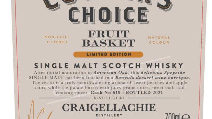 Craigellachie  Fruit Basket Coopers Choice 0.7 Ltr