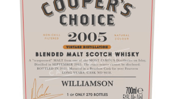 Williamson Coopers Choice 0.7 Ltr