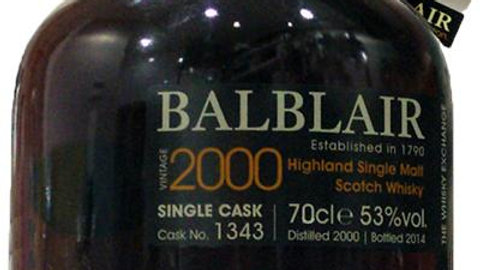 Balblair Vintage 2000 Single Cask 0.7 Ltr