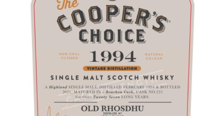 Old Rhosdhu Vintage 1994 Coopers Choice 0.7 Ltr