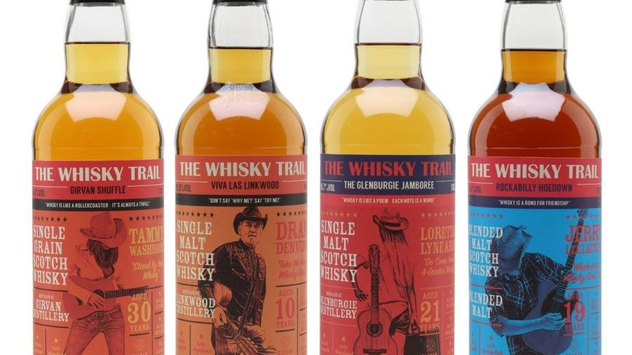 The whisky trail set 0,7l