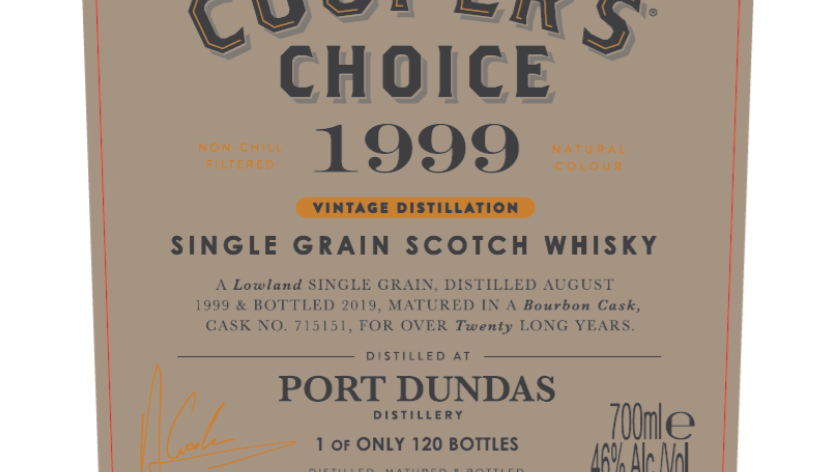 Coopers Choice Port Dundas Vintage 1999 0.7 Ltr