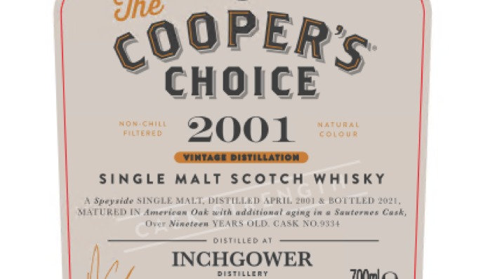 Inchgower Coopers Choice 0.7 Ltr