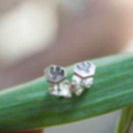 Tiny cactus stud earrings