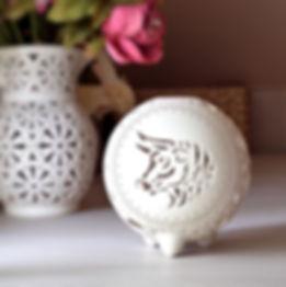 Taurus Ceramic Candle Holder