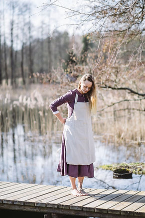 Traditional Apron, Natural Linen