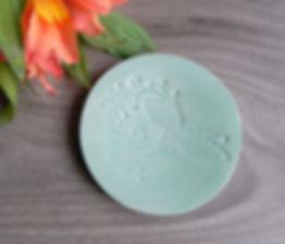 Ceramic ring dish, Light Mint Bird