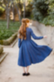 Classic Dress, Long sleeves, Denim