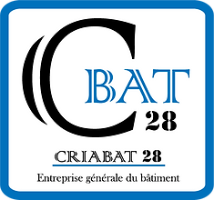 Logo CRIABAT 28 BLEUE AVEC LE TEXTE sans