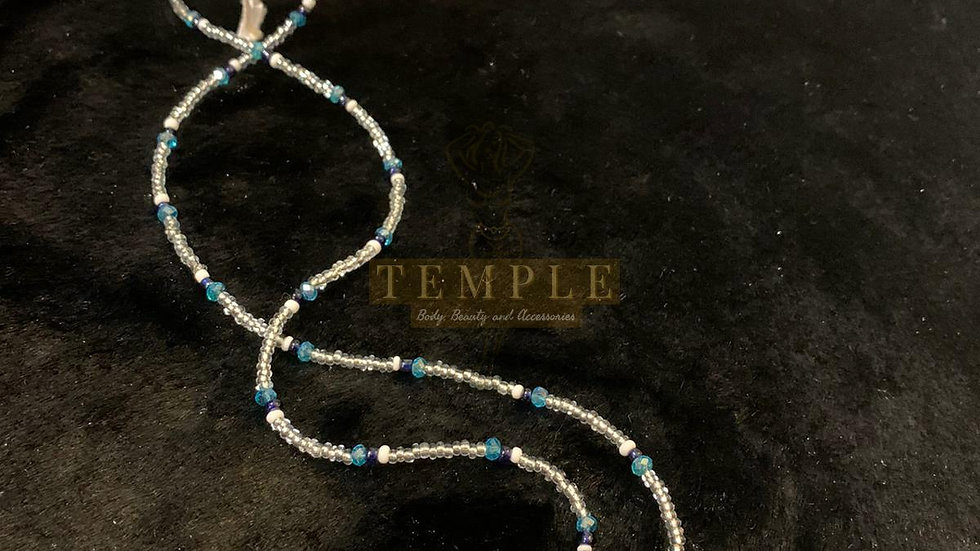 Crystal Blue Goddess Waist Bead