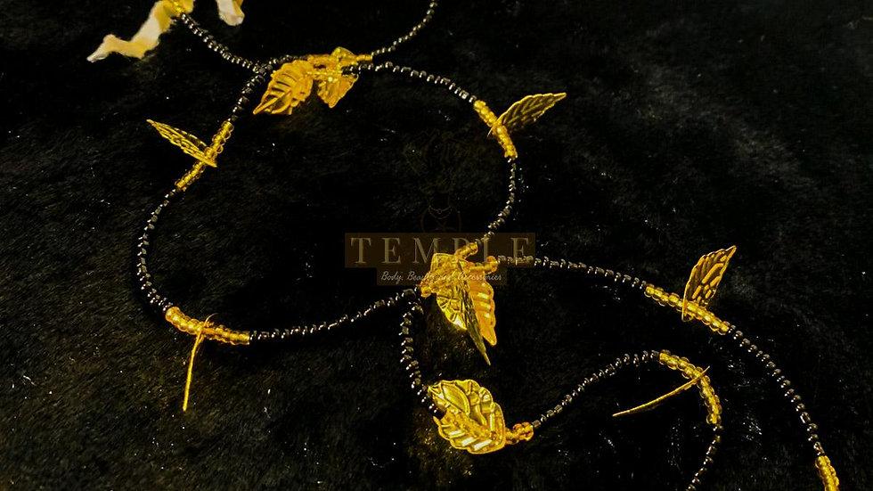 Golden Leaves Goddess Waist Bead