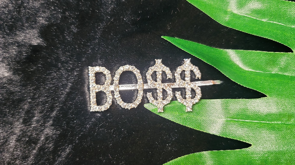 """BO$$"" Hair Clip"