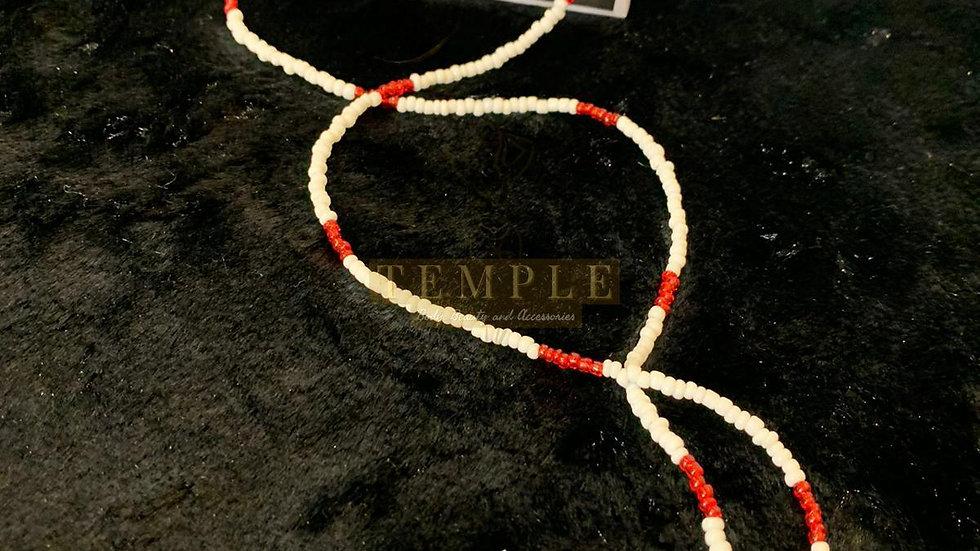 Red & White Goddess Waist Beads