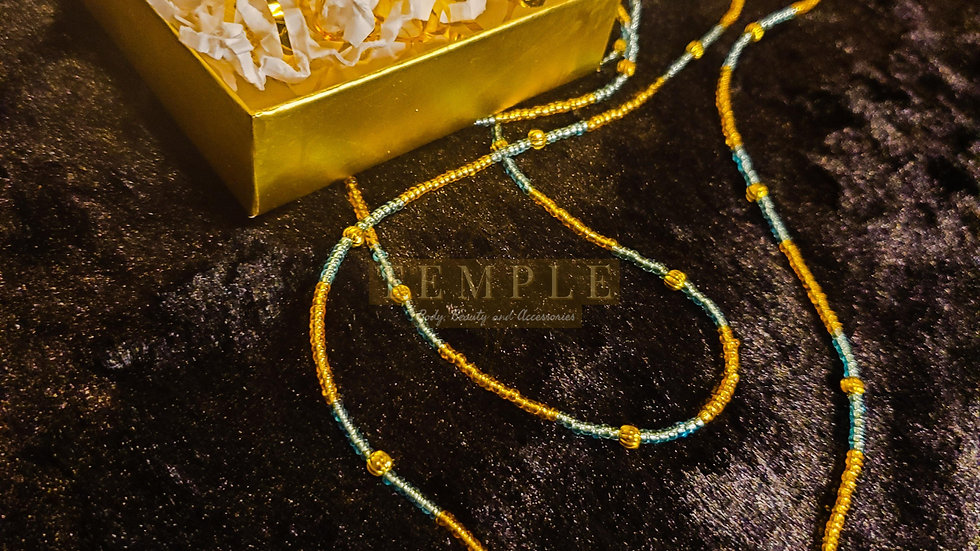 Golden Wave Goddess Waist Bead