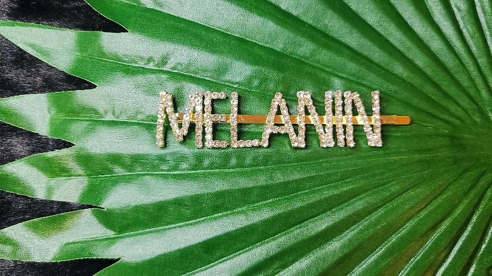 """MELANIN"" Hair Clip"