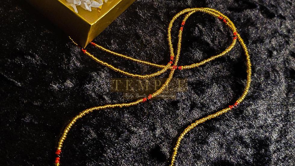Red & Gold Goddess Waist Bead