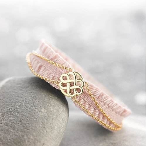 BABY BRACELET LOVE FLOWER INFINIE - OR JAUNE