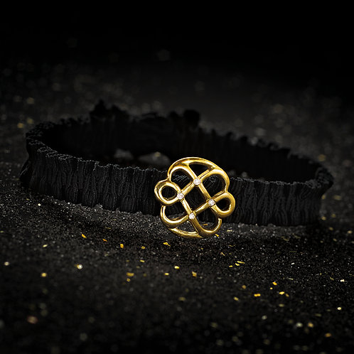 BRACELET LOVE FLOWER INFINIE - OR JAUNE - 4 DIAMANTS
