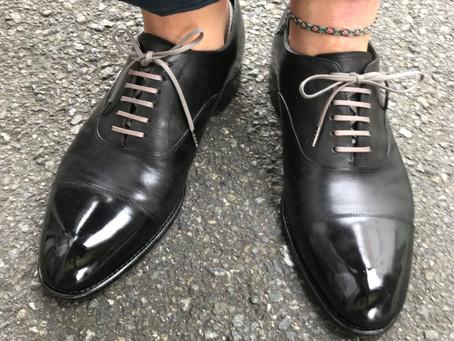 靴紐をチェンジ