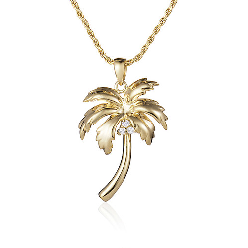 14k palm tree pendant mozeypictures Gallery