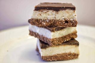 Vegan Vanilla & Choc Cheesecake