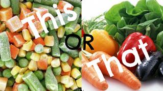 Frozen or Fresh - which veg is best?