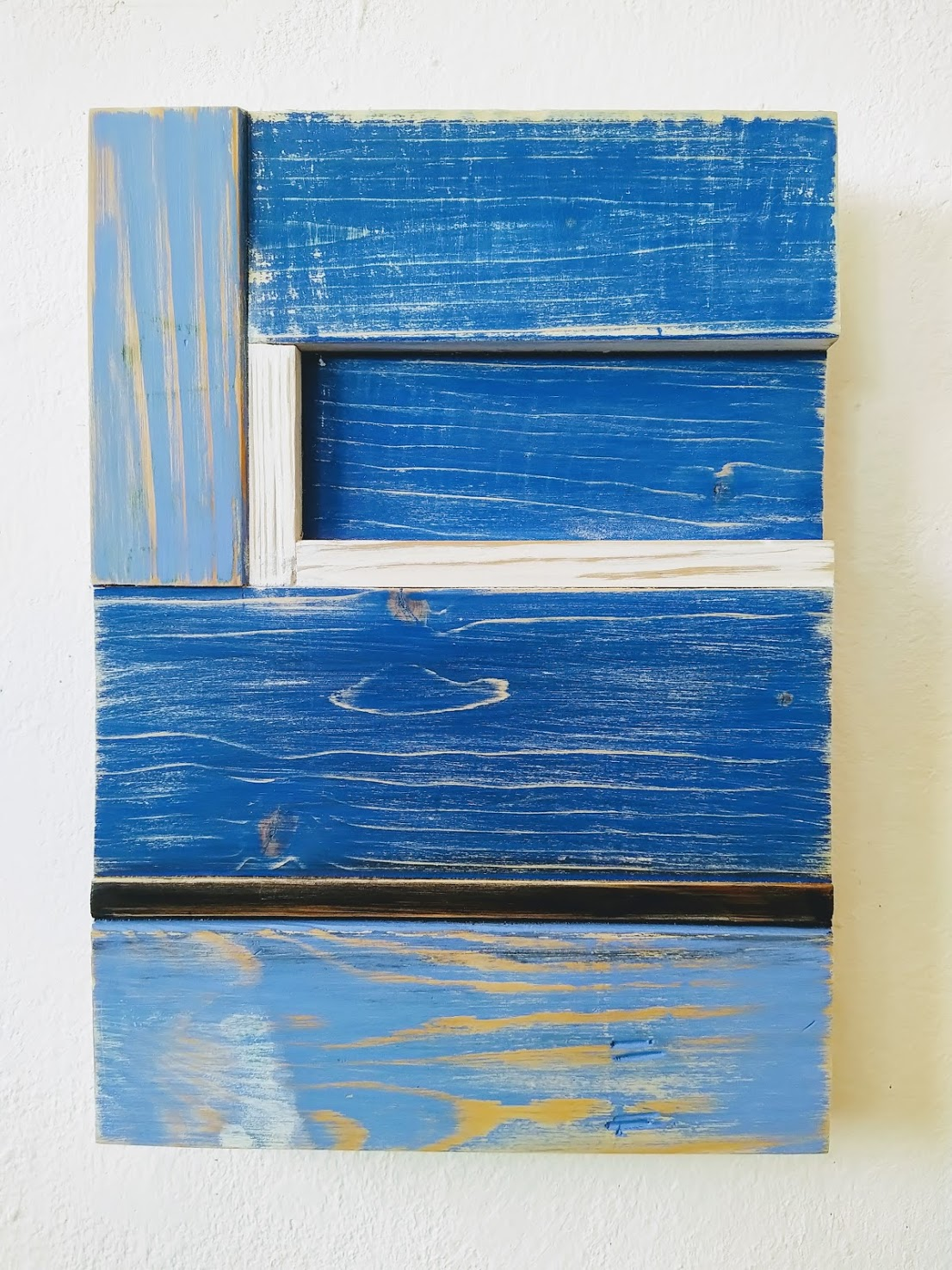 Blue on Wood